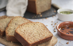 Sliced bread with Newgrange Gold Camelina Oil