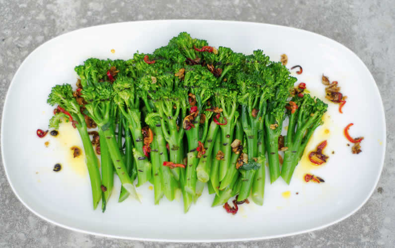 Chargrilled Broccoli with Chilli & Garlic Rapeseed Oil