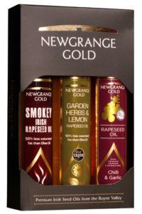 Newgrange Gold Gift Box of 3 Newgrange Gold Rapeseed & Camelina Oils