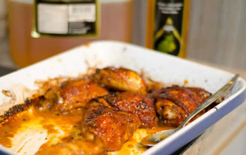 Honey and Mustard Sticky Chicken