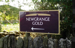 Newgrange Gold sign indicating farm