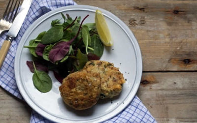 Pan Fried Tuna Fishcakes With Spinach