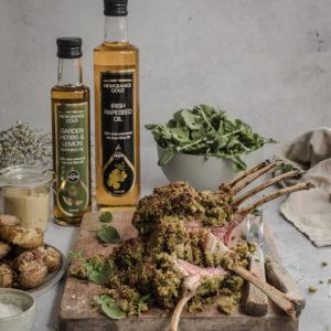 Herb Crusted Lamb with Newgrange Gold Oils
