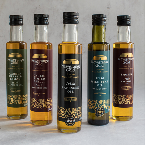 Newgrange Gold Bottles of Rapeseed & Camelina Oil