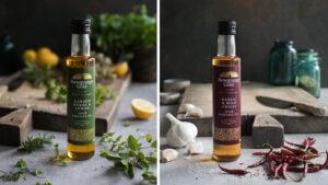Newgrange Gold Infused Garlic & Mild Chilli and Newgrange Gold Infused Garden Herbs and Lemon Rapeseed Oil